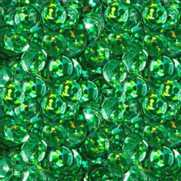 Пайетки круглые голографик с гранями 6мм (зеленый) 10гр ZL №04