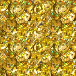 Пайетки круглые голографик с гранями 6мм (желтый темный) 10гр ZL №07