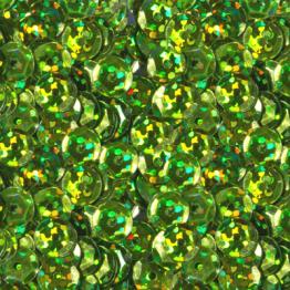 Пайетки круглые голографик с гранями 6мм (салатовый) 10гр ZL №10