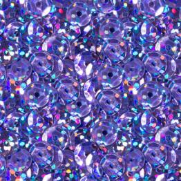 Пайетки круглые голографик с гранями 6мм (сиреневый) 10гр ZL №13