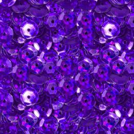 Пайетки круглые голографик с гранями 6мм (фиолетовый яркий) 10гр ZL №16