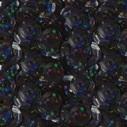 Пайетки круглые голографик с гранями 6мм (черно-синий) 10гр ZL №18