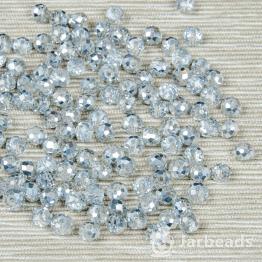 Кристаллы 6мм хрусталь с серебром 10штук