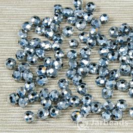 Кристаллы 6мм серебрянный 10штук