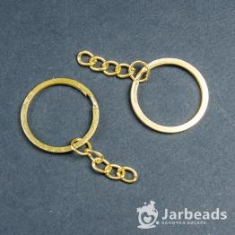 Основа для брелока d3см, длина 5см (золото)