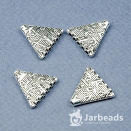 Разделители рядов Треугольник 5 отв 18*18мм (серебро) 2шт