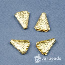 Разделители рядов Треугольник 3 отв 14*16мм (золото) 2шт