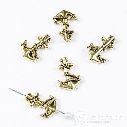 Бусина металлическая Якорь 1,4*1,8см (золото)