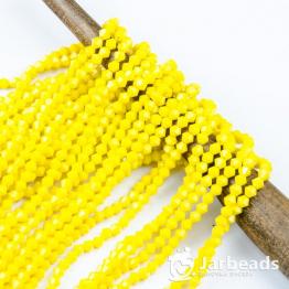 Кристаллы биконус 4*4мм желтый кукурузный керамика 100штук арт.38