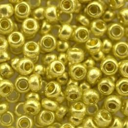 Бисер PRECIOSA 10/0 (50гр) 1сорт цвет: гальванизированный желтое золото арт.18386