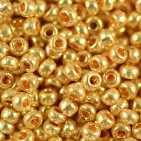 Бисер PRECIOSA 10/0 (50гр) 1сорт цвет: металлик желтое золото арт.18383