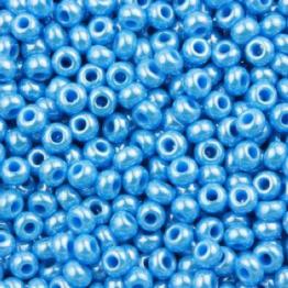 Бисер PRECIOSA 10/0 (50гр) 1сорт цвет: голубой блестящий арт.68030