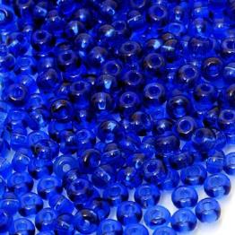 Бисер PRECIOSA 8/0 (50гр) цвет: синий темный прозрачный арт.30100
