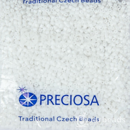 Рубка PRECIOSA 10/0 50грамм цвет: белый керамика 03050