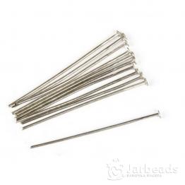 Пины гвоздики 24мм (серебро) 100шт