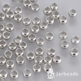 Обжимные бусины 3*2мм (серебро) 50шт