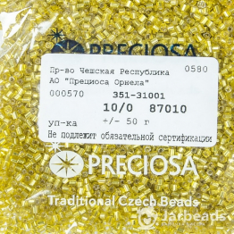 Рубка PRECIOSA 10/0 50грамм цвет: желтый огонек 87010