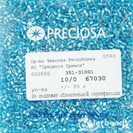 Рубка PRECIOSA 10/0 50грамм цвет: голубой огонек 67030