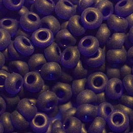 Бисер PRECIOSA 10/0 (50гр) 1сорт цвет: синий темный прозрачный матовый арт.30110m