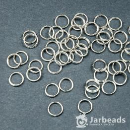 Кольца двойные 0,8см (серебро) 50штук