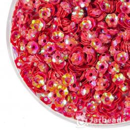 Пайетки цветок 5мм (красный) 10гр №096