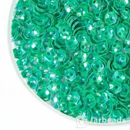 Пайетки цветок 5мм (зеленый) 10гр №178