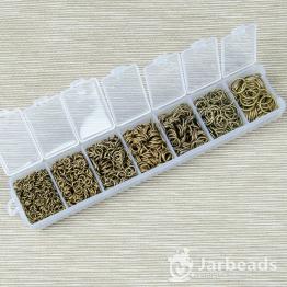 Набор разжимных колец 4-10мм 1800шт (бронза)