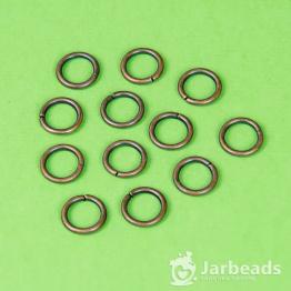 Кольца разжимные 1см толстые (медь) 50штук