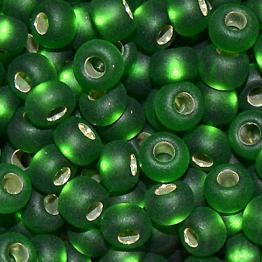 Бисер PRECIOSA 10/0 (50гр) 1сорт цвет: зеленый матовый огонек арт.57120m