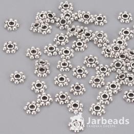Разделители для бусин Диск 7 шариков 6мм (серебро) 10шт X-K08Y7042
