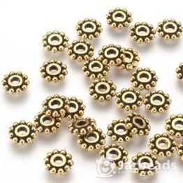 Разделители для бусин Диск 10 шариков 6,5мм (золото) 10шт X-PALLOY-AB145-AG-NF