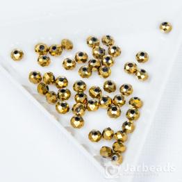 Кристаллы 4мм желтое золото 50штук