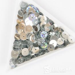 Пайетки круглые металлик 6мм (серебро) 10гр
