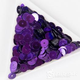 Пайетки круглые металлик 6мм (фиолетовый) 10гр