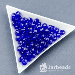 Кристаллы рондель 5*6мм синий темный прозрачный 10штук