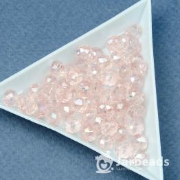 Кристаллы 5*6мм розовый кварц 10штук