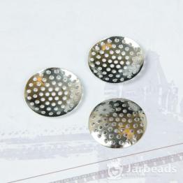 Круглая сеточка 25мм (серебро)
