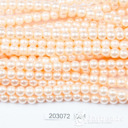 Бусины на нити Жемчуг пластиковый 6мм 140шт (персиковый) арт.094