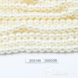 Бусины на нити Жемчуг пластиковый 8мм 100шт (слоновая кость) арт.00003В