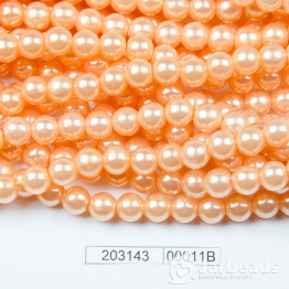 Бусины на нити Жемчуг пластиковый 8мм 100шт (персиковый) арт.00011В