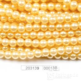 Бусины на нити Жемчуг пластиковый 8мм 100шт (золотисто бежевый) арт.00013В