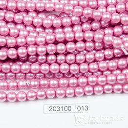 Бусины на нити Жемчуг пластиковый 6мм 140шт (малиновый) арт.013