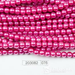 Бусины на нити Жемчуг пластиковый 6мм 140шт (малиновый темный) арт.076