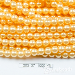 Бусины на нити Жемчуг пластиковый 8мм 100шт (абрикос) арт.00014В