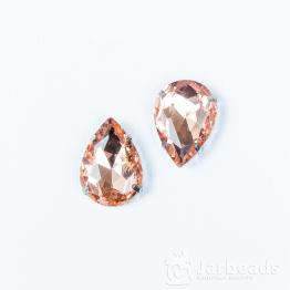 Страза каплевидная 10*14мм (розовое золото)