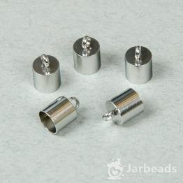 Колпачки литые с петлей вн.d.8мм (серебро) 2шт