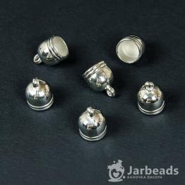 Колпачки литые пластиковые с петлей вн.d.8мм (серебро хром) 2шт