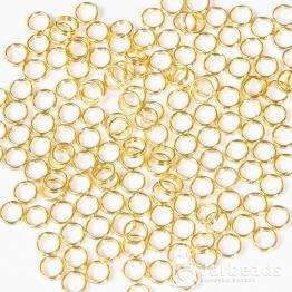 Кольца двойные 0,5см (золото) 50штук