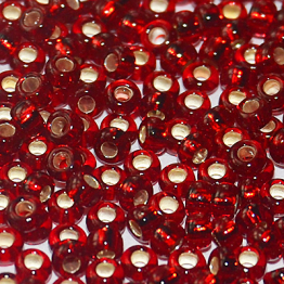 Бисер PRECIOSA 10/0 (50гр) 1сорт цвет: красный огонек арт.97120