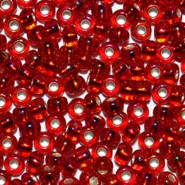 Бисер PRECIOSA 10/0 (50гр) 1сорт цвет: красный радужный огонек арт.97079